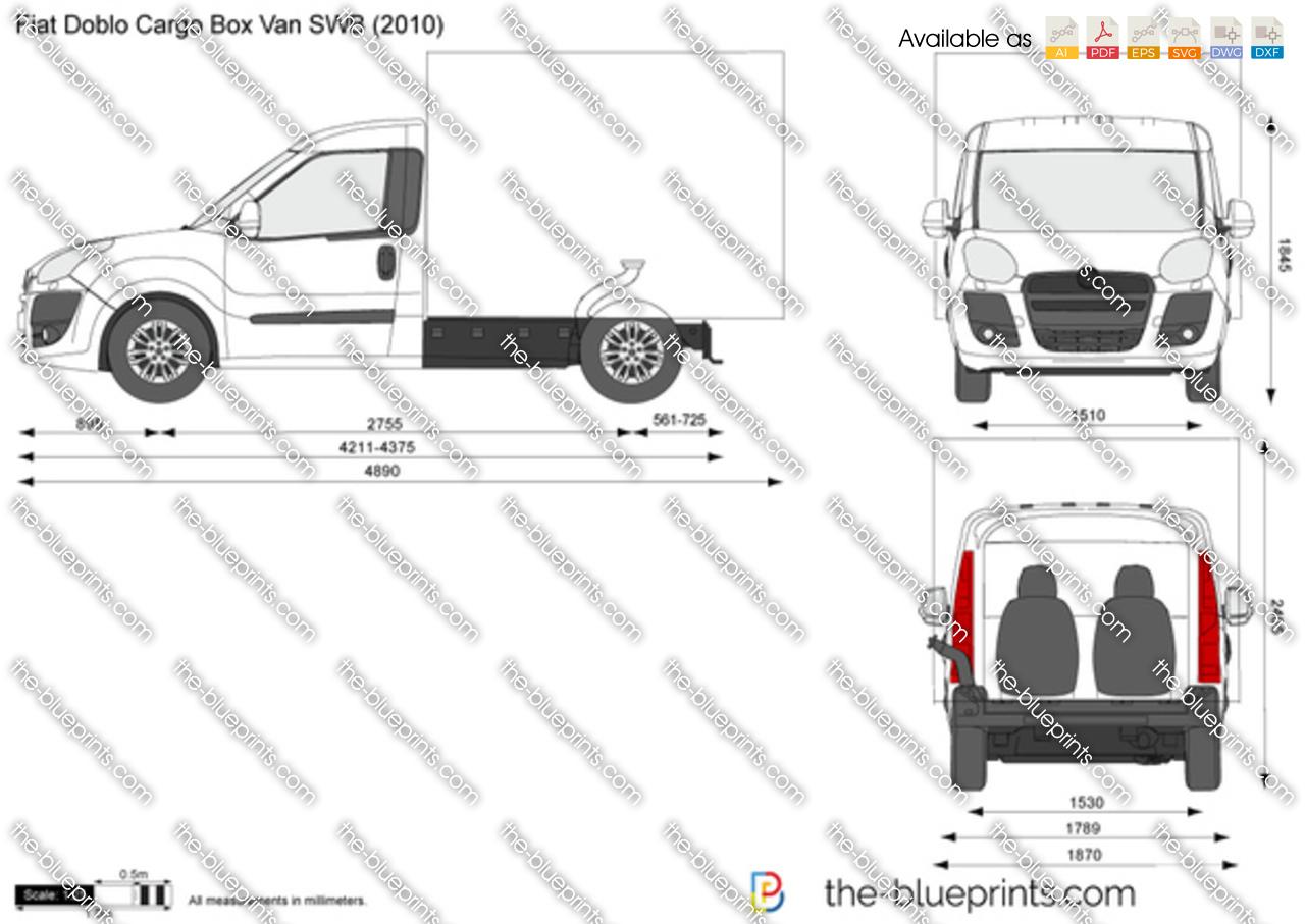 Fiat Doblo Cargo Box Van SWB vector drawing