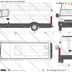 Iveco Daily Wiring Diagram Vole Skeleton 50c18 Van Lwb Vector Drawing