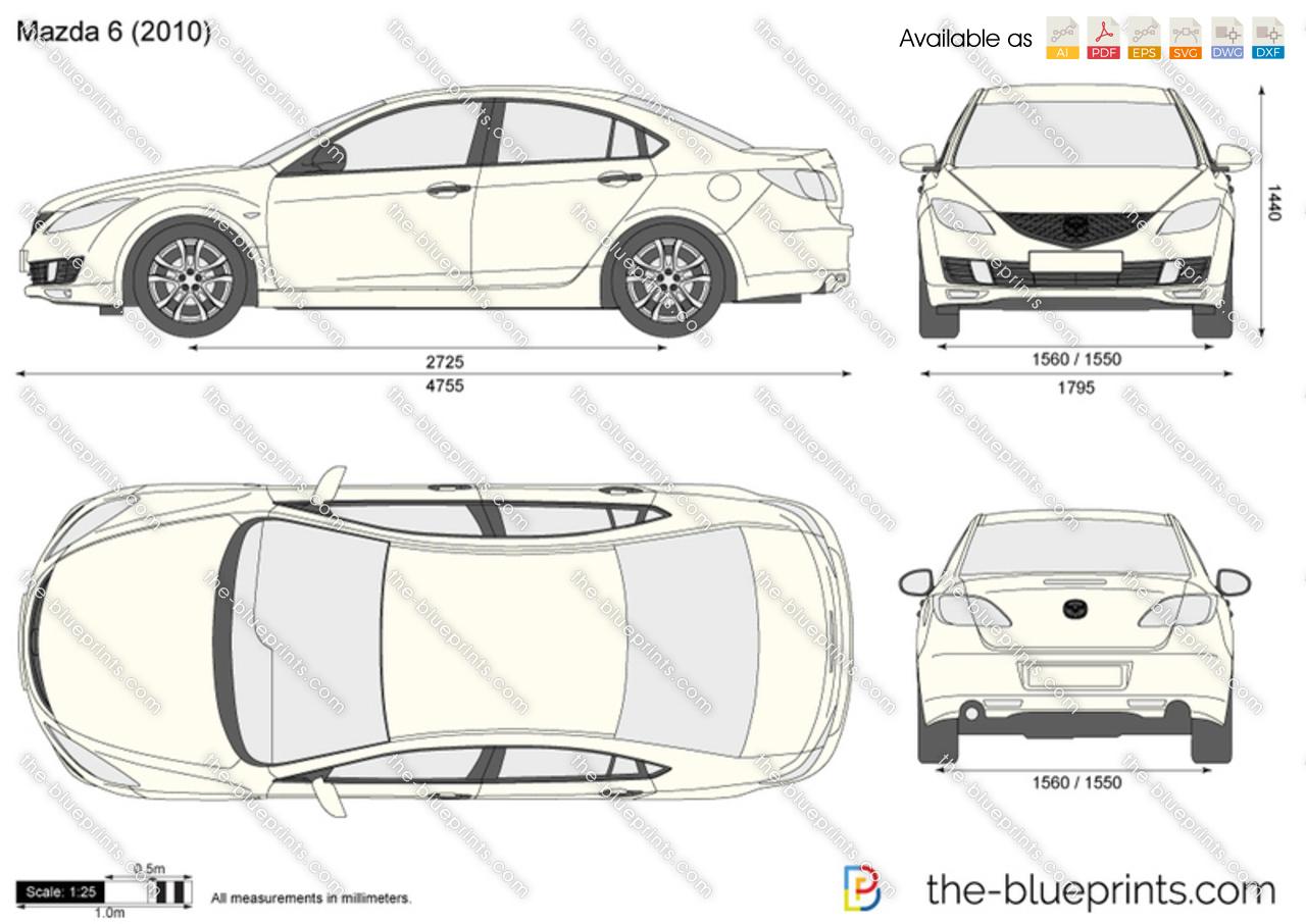 Mazda 6 4-Door vector drawing