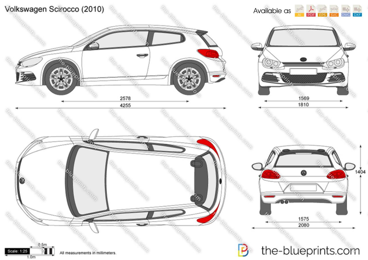 Volkswagen Scirocco vector drawing