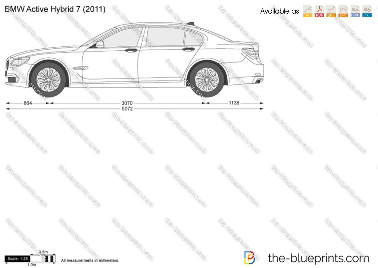 BMW ActiveHybrid 7 F04 vector drawing