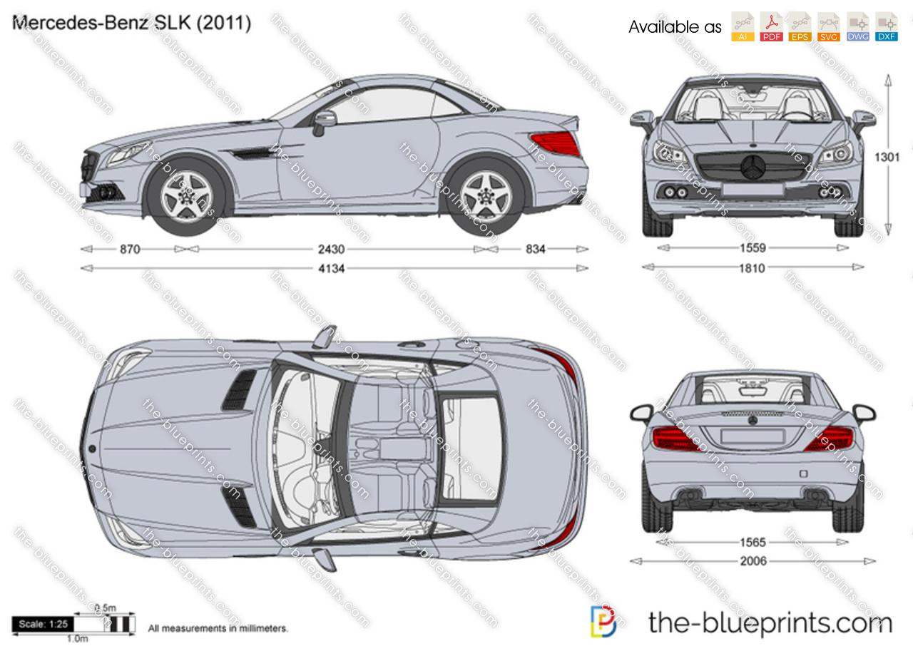 Mercedes-Benz SLK R172 vector drawing