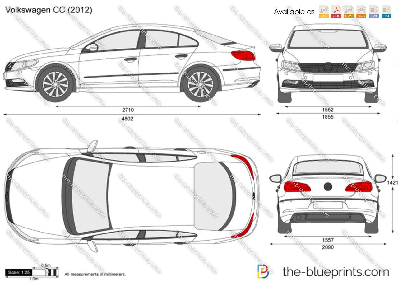 Volkswagen CC vector drawing