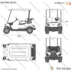 Yamaha Golf English 3d Animal Cell Diagram Project Cart Fleet Vector Drawing