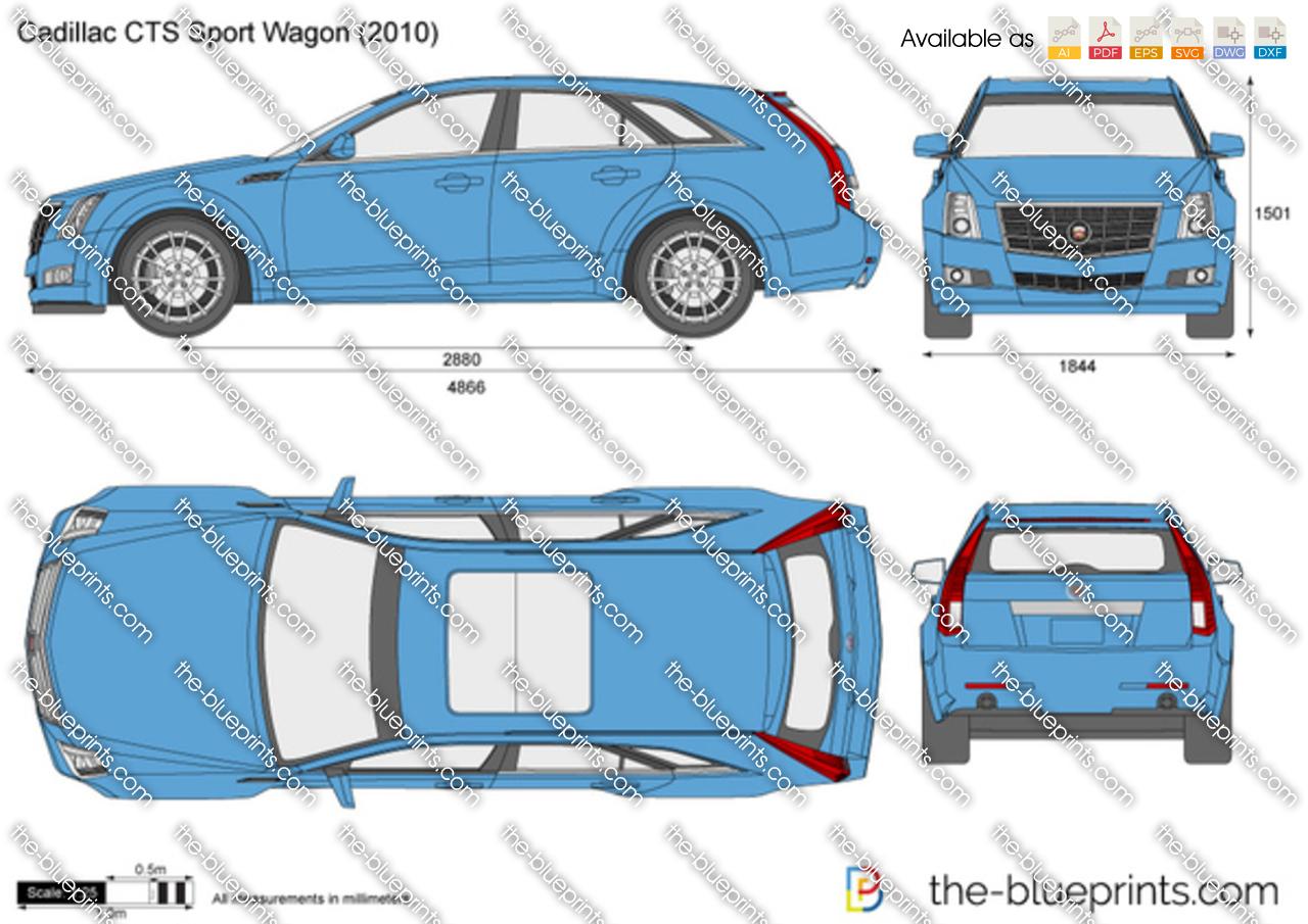 Cadillac CTS Sport Wagon vector drawing