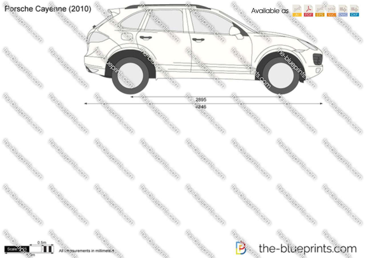 Porsche Cayenne vector drawing