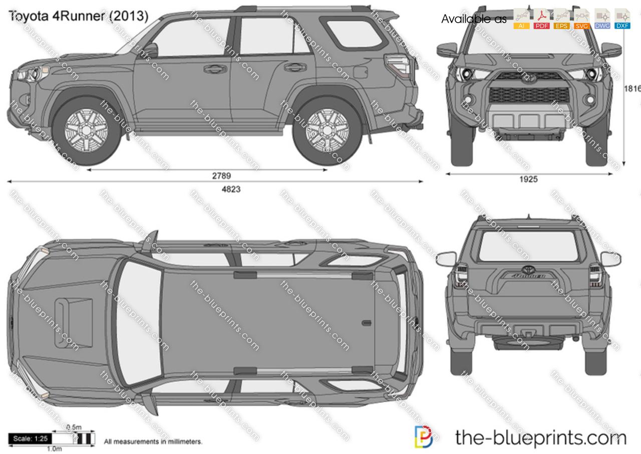 Toyota 4Runner vector drawing