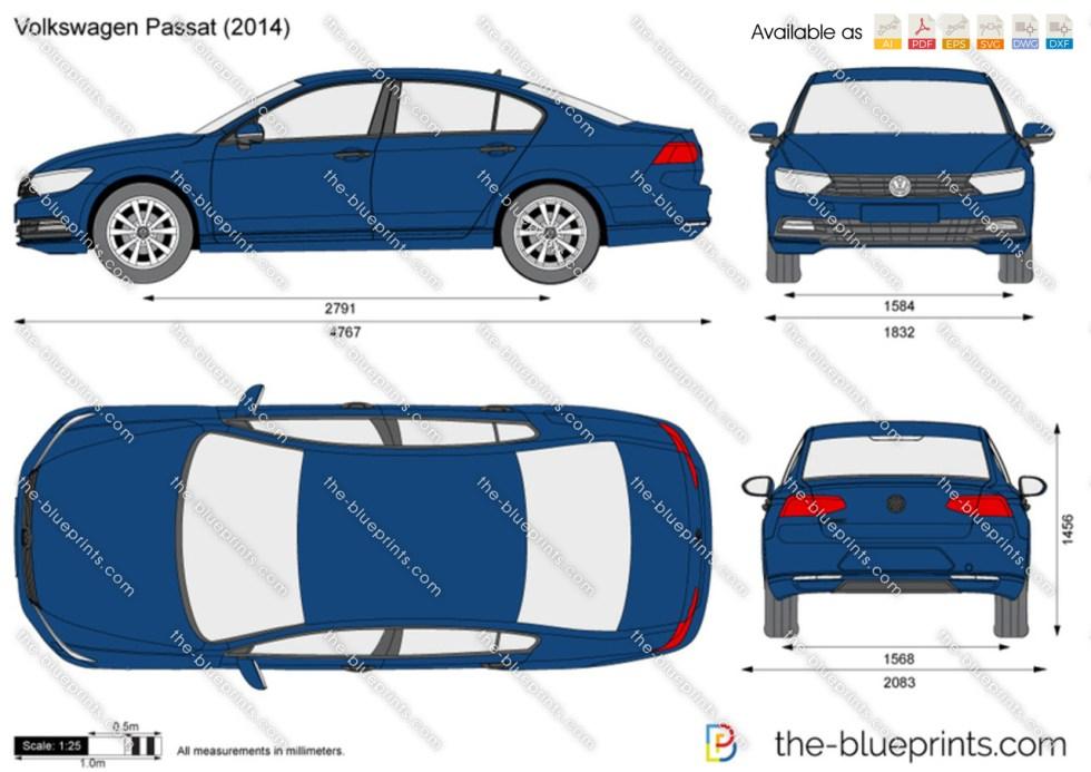 The-Blueprints.com - Vector Drawing - Volkswagen Passat