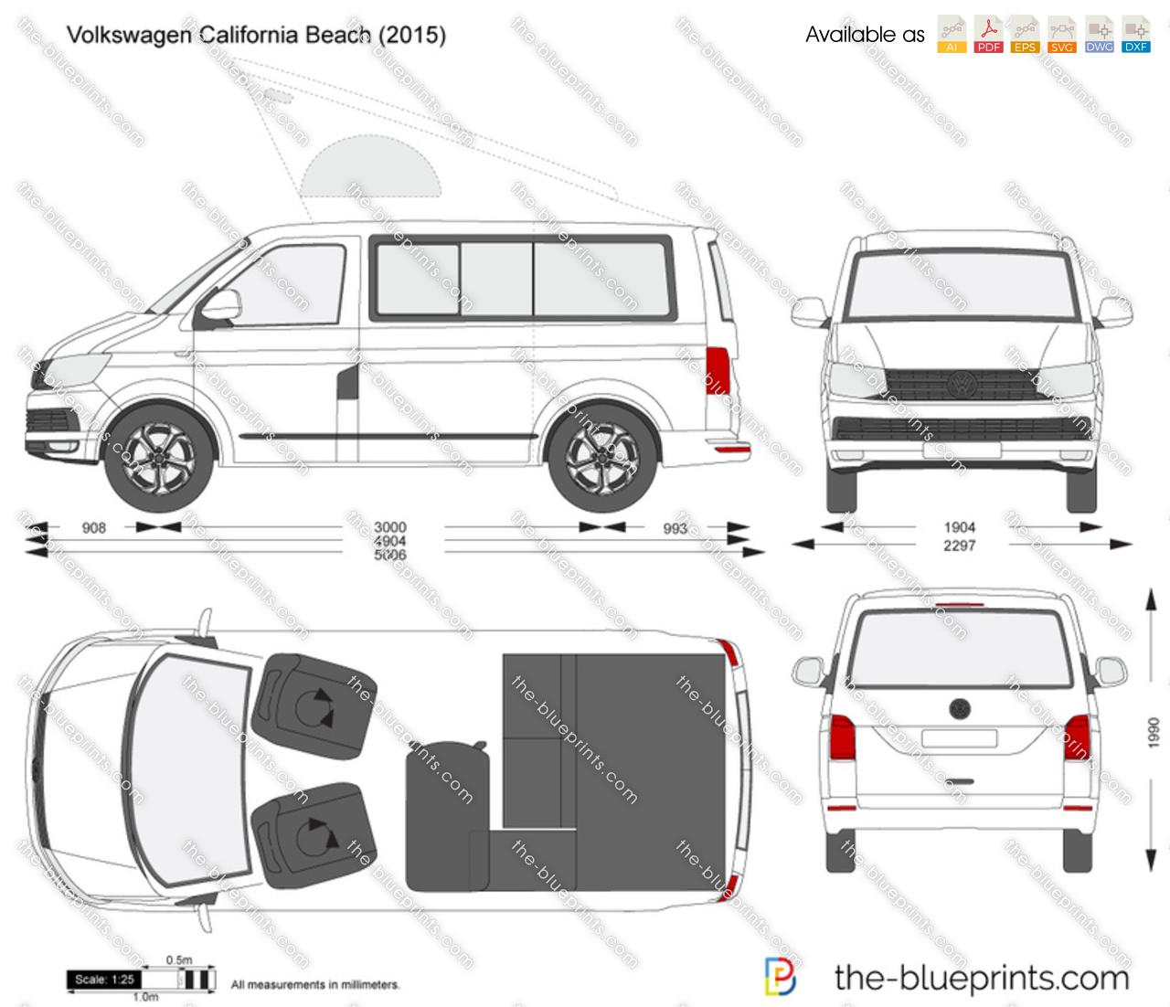 Volkswagen California Beach vector drawing