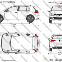 Golf Cart Headlights Honda Airbag Wiring Diagram Volkswagen Gti Vii Vector Drawing