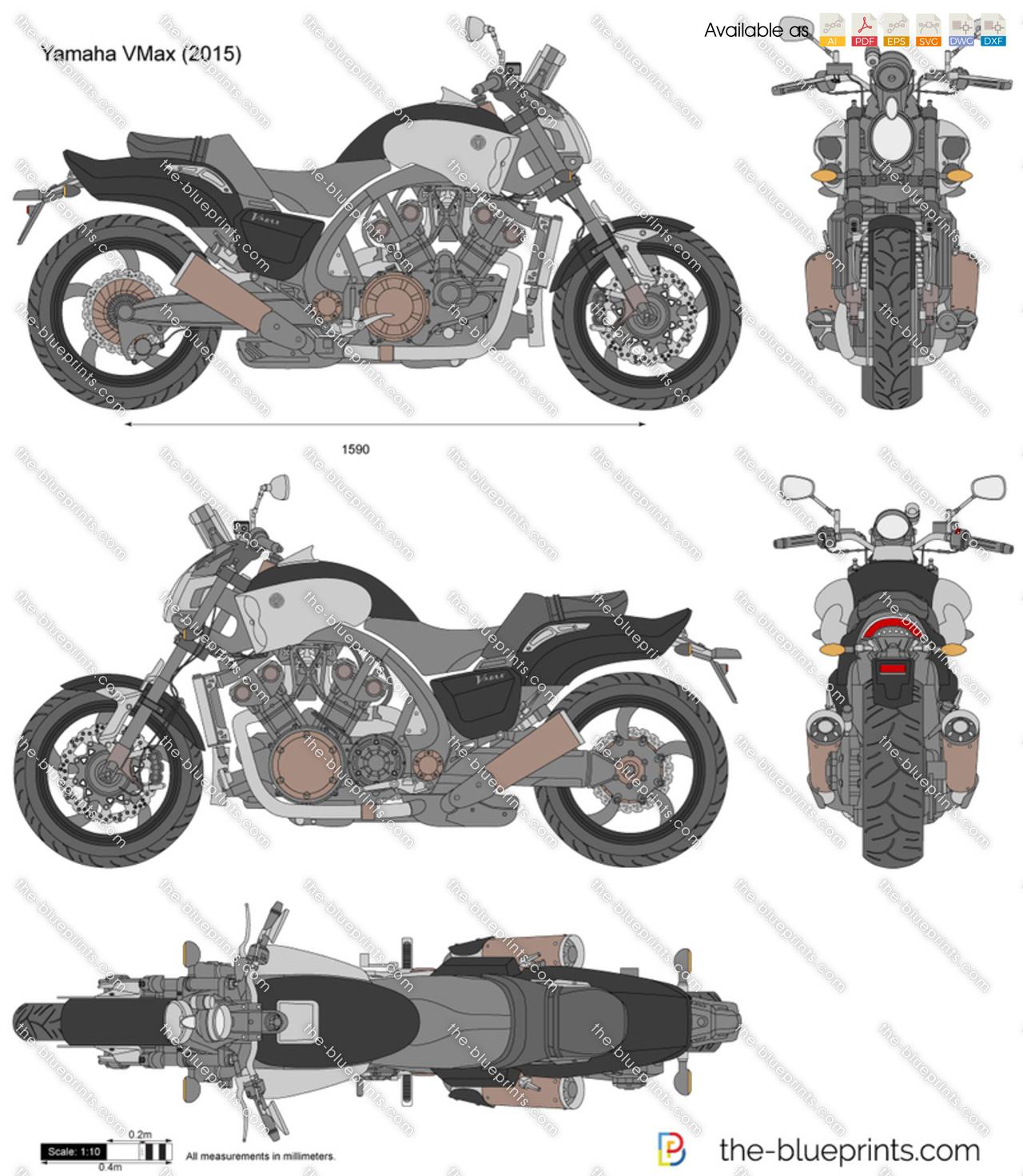 Yamaha Vmax Vector Drawing