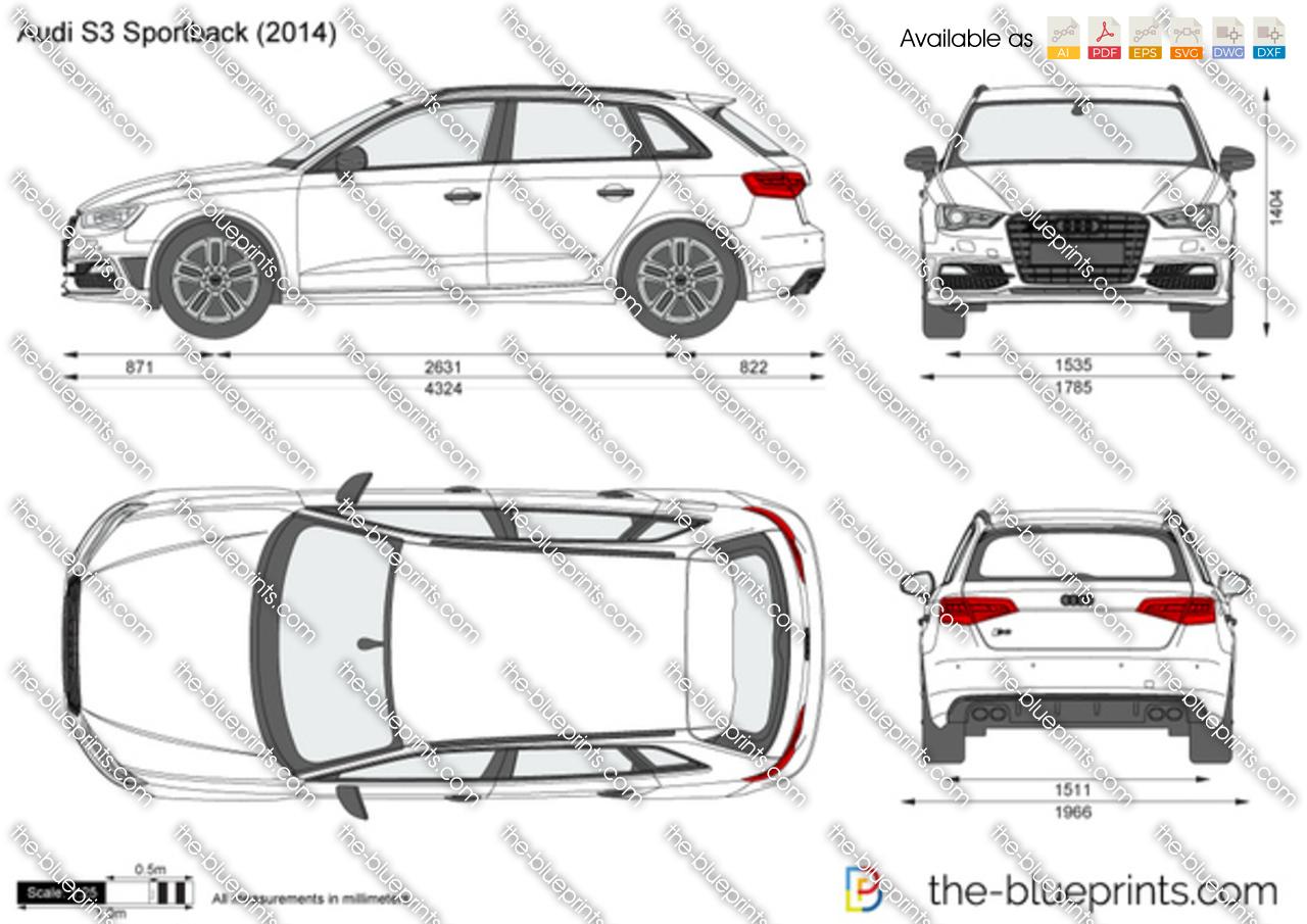 Audi S3 Sportback vector drawing