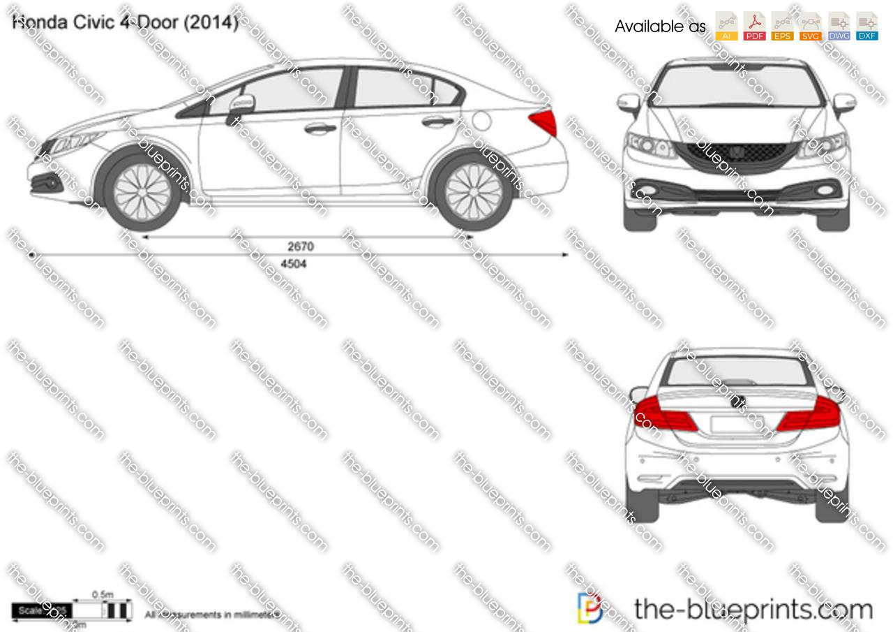 Honda Civic 4-Door vector drawing