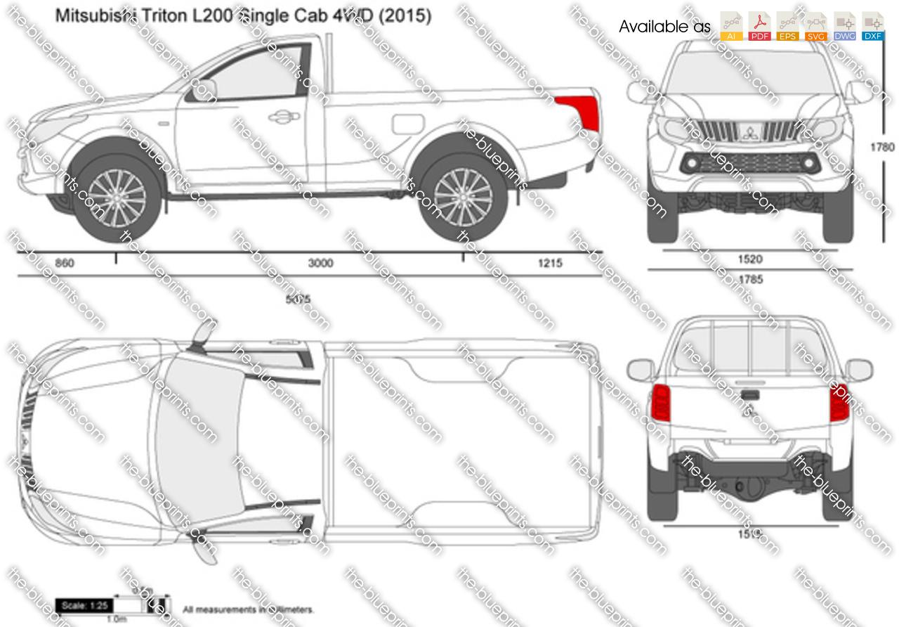 Mitsubishi Triton Single Cabin