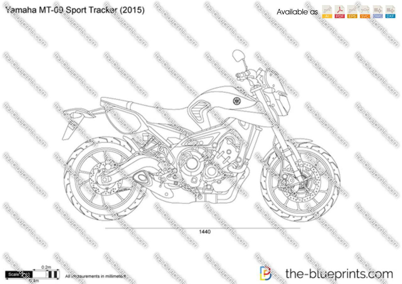 Yamaha Mr 09 Sport Tracker Vector Drawing