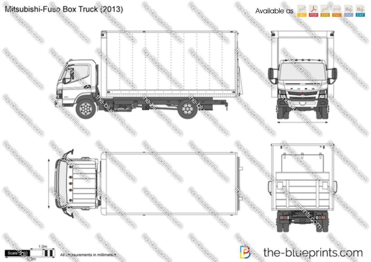 Mitsubishi-Fuso Box Truck vector drawing