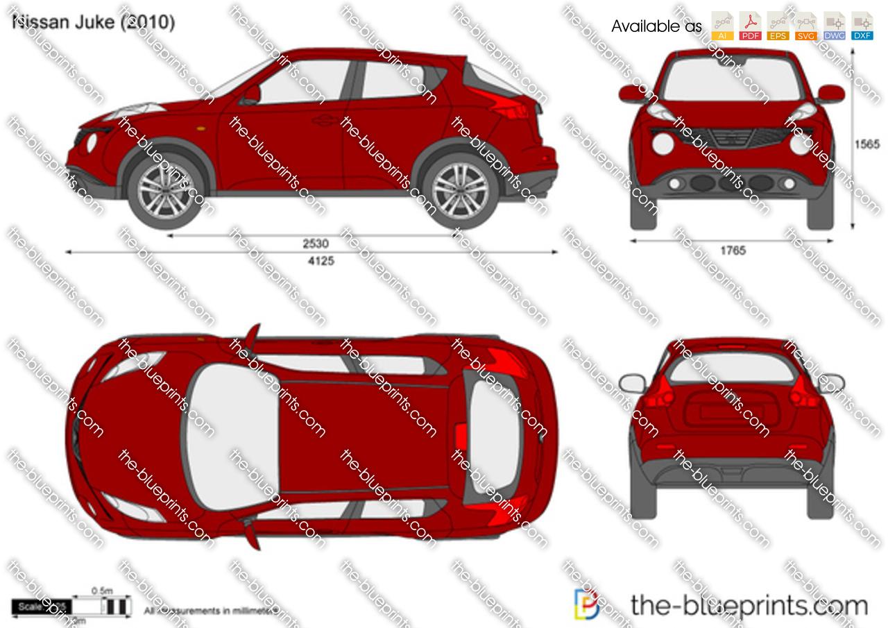 Nissan Juke Vector Drawing
