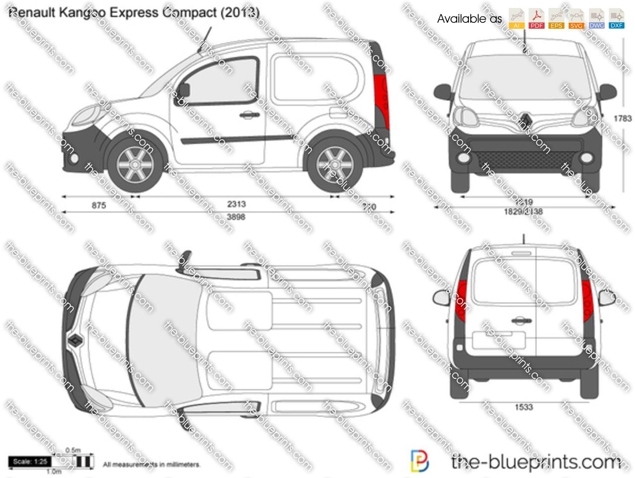 Renault Kangoo Express Compact vector drawing