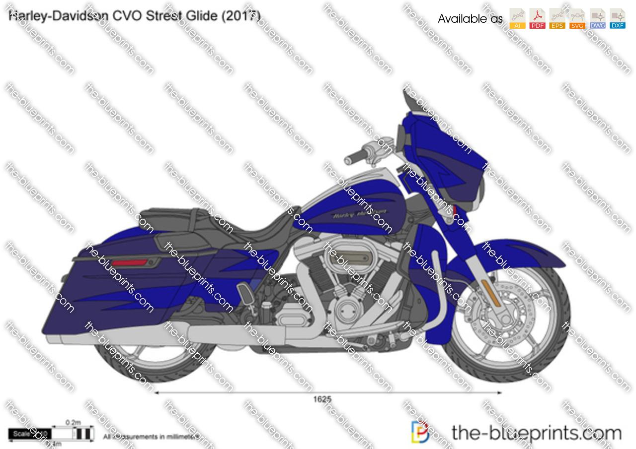 Harley-Davidson CVO Street Glide vector drawing