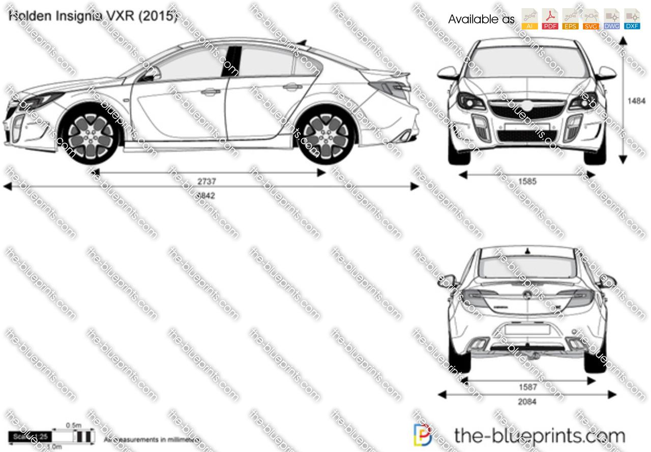 Holden Insignia VXR vector drawing