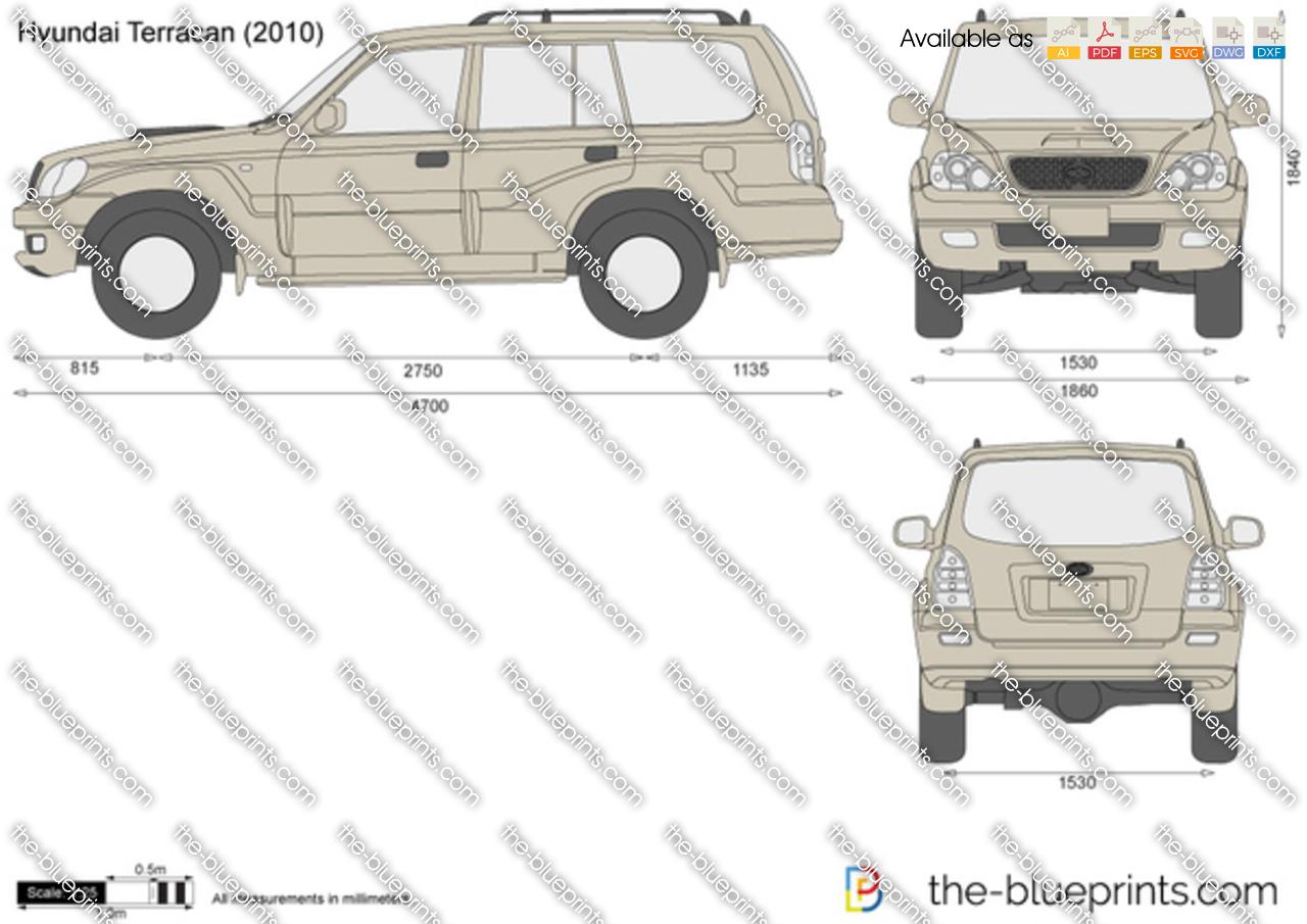 Hyundai Terracan Vector Drawing