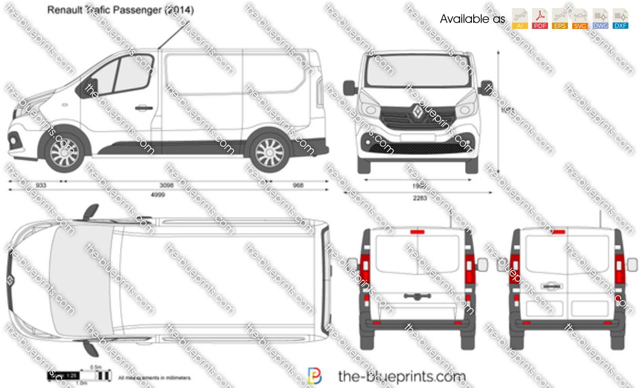 Renault Trafic Passenger vector drawing