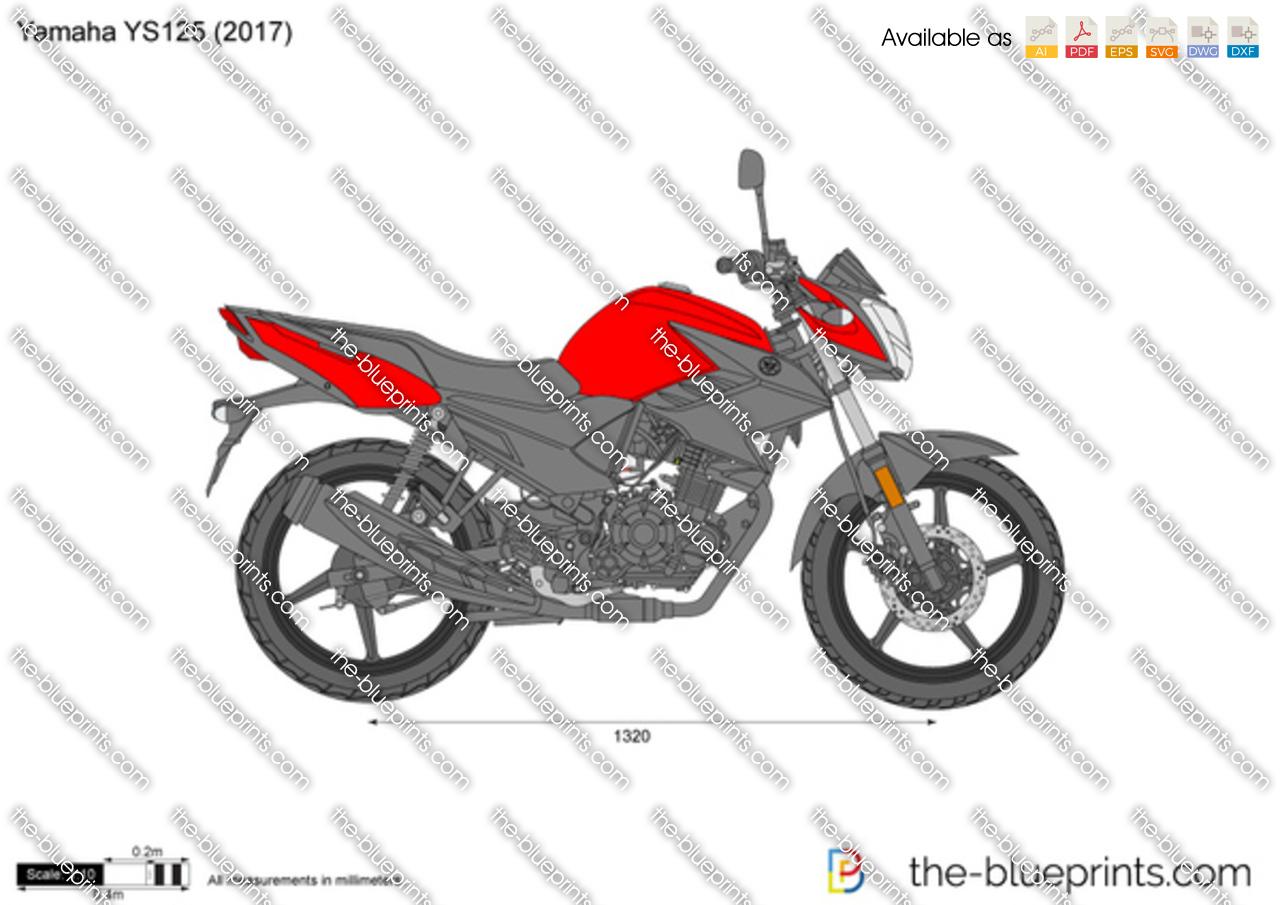 Yamaha YS125 vector drawing