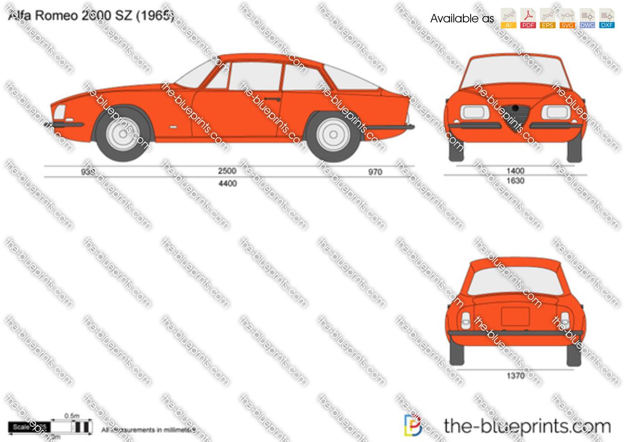 Alfa Romeo 2600 SZ vector drawing