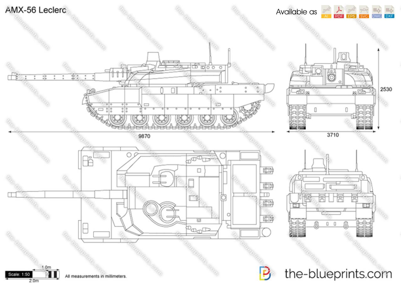 Amx 56 Leclerc Vector Drawing