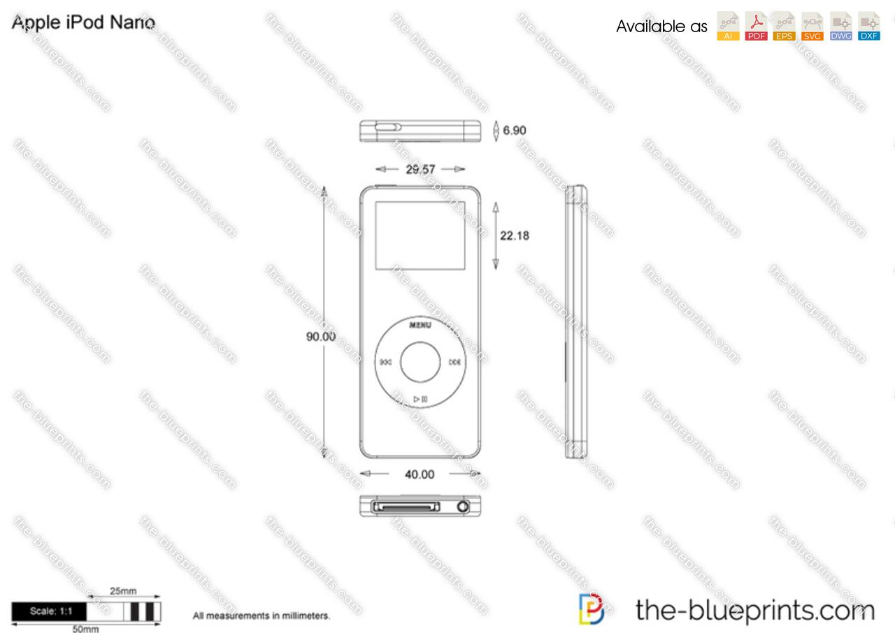 Apple iPod Nano vector drawing