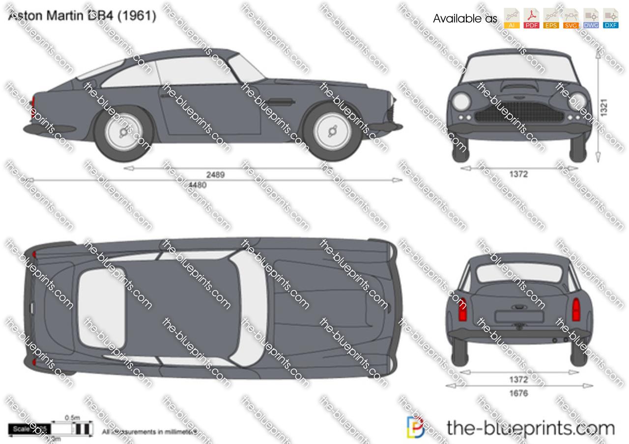 Aston Martin DB4 vector drawing