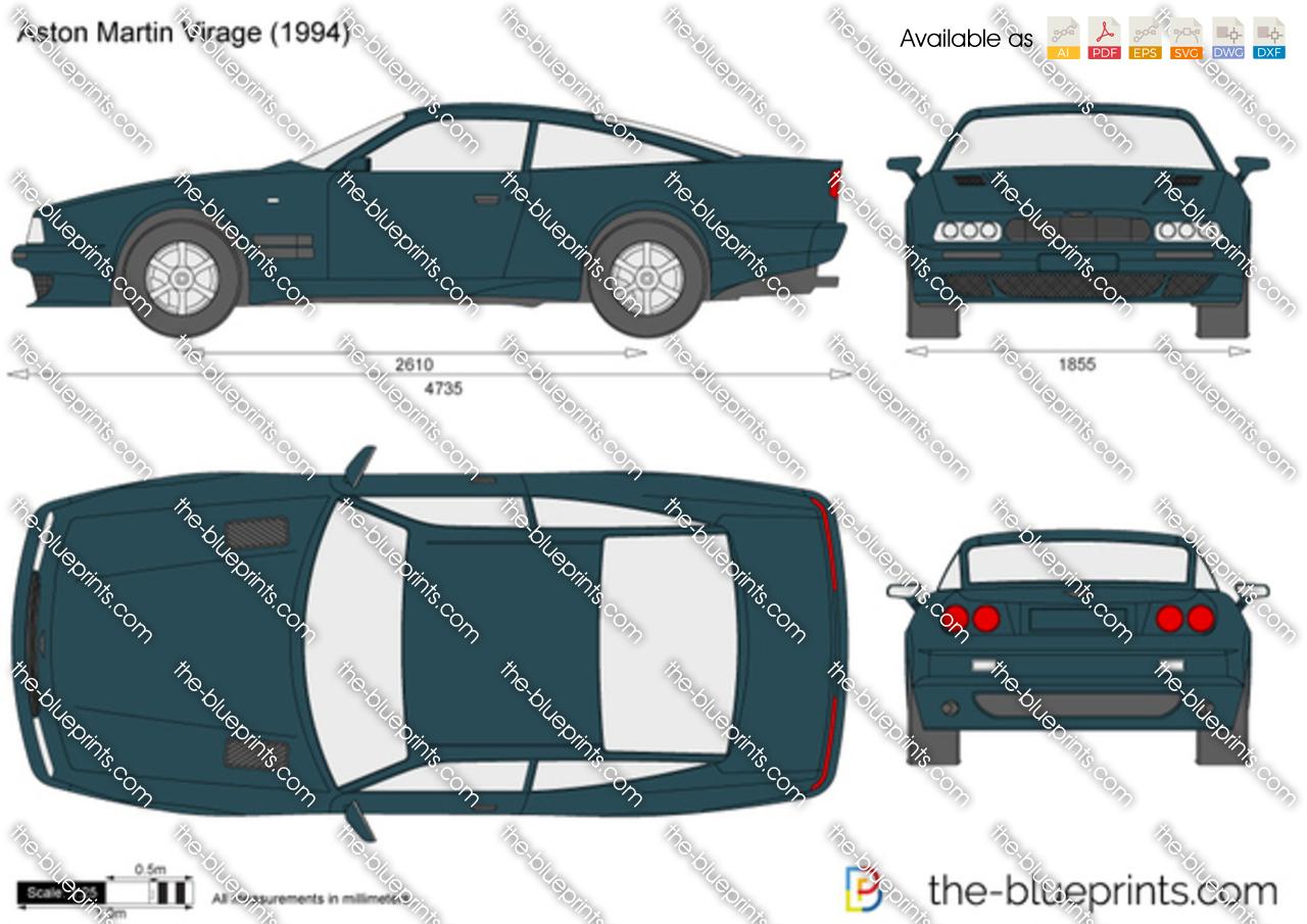 Aston Martin Virage vector drawing