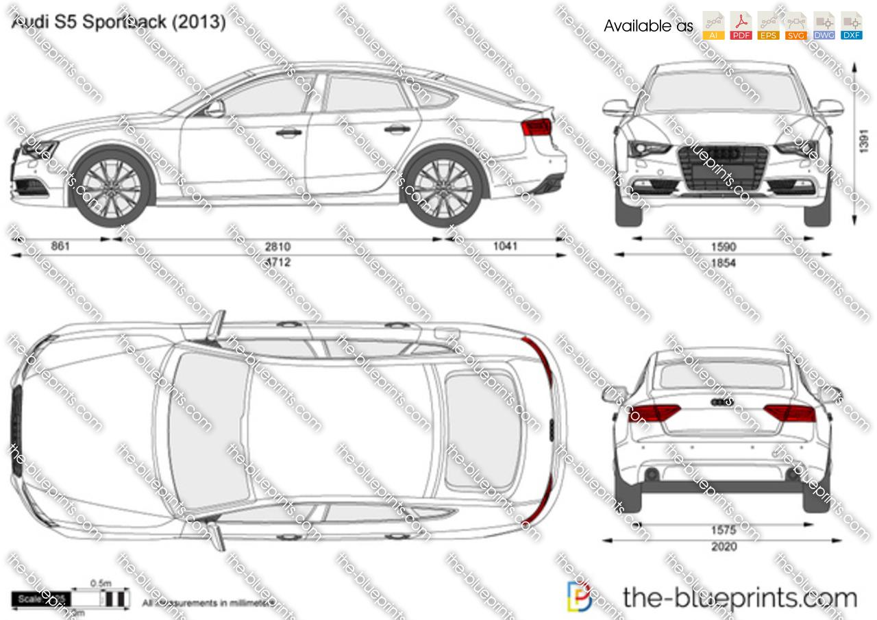 Audi S5 Sportback vector drawing