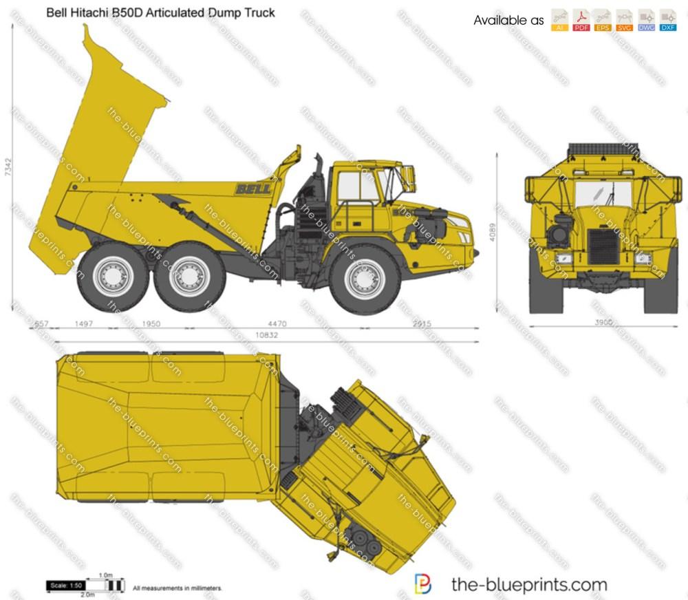 medium resolution of bell hitachi b50d articulated dump truck