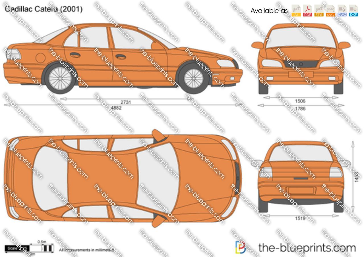 Cadillac Catera vector drawing