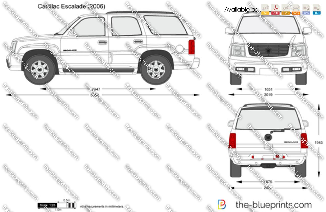 Cadillac Escalade vector drawing