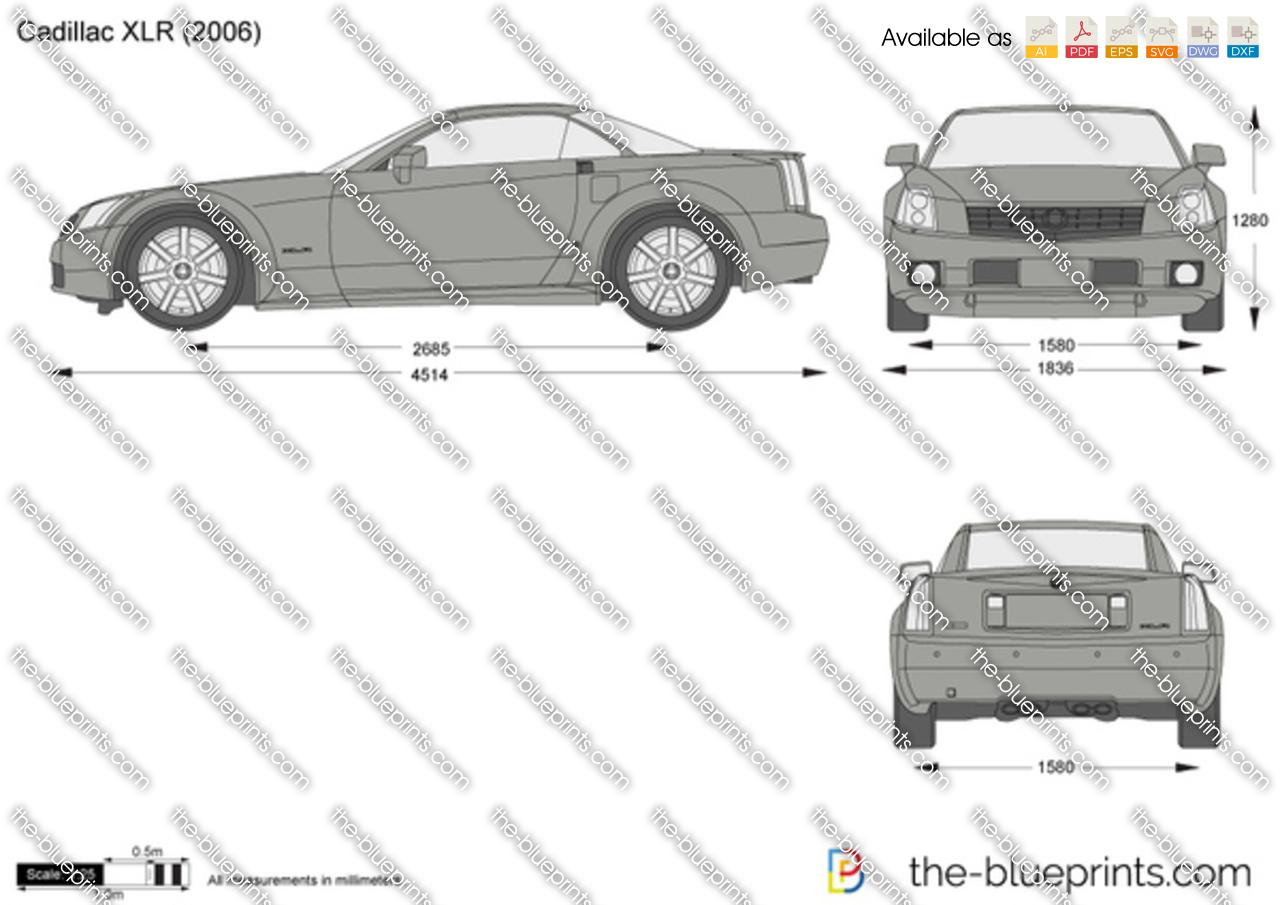 Cadillac XLR vector drawing