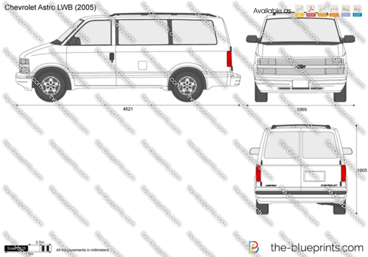 Chevrolet Astro LWB vector drawing