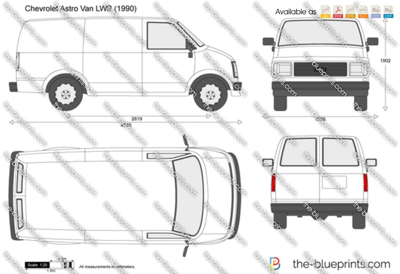 Chevrolet Astro Van LWB vector drawing