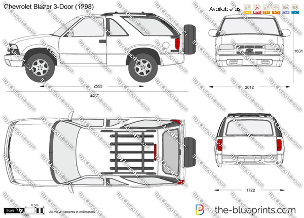 Chevrolet Blazer 3-Door vector drawing