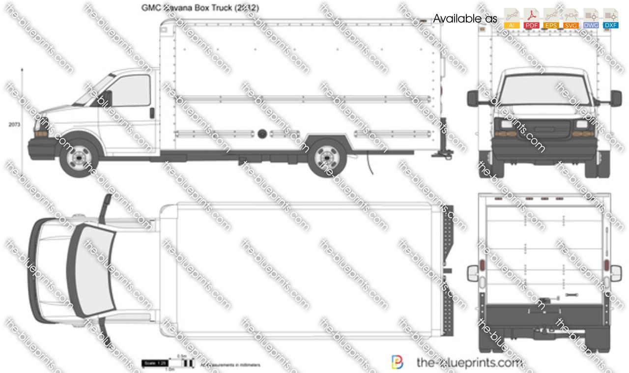 Chevrolet Express Box Truck vector drawing