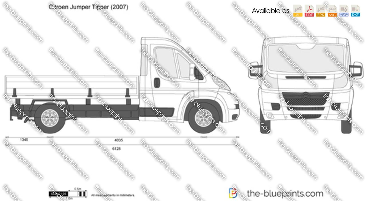 Citroen Jumper Tipper vector drawing