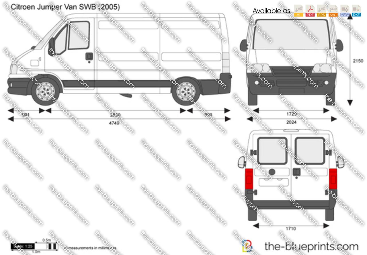Citroen Jumper Van SWB vector drawing