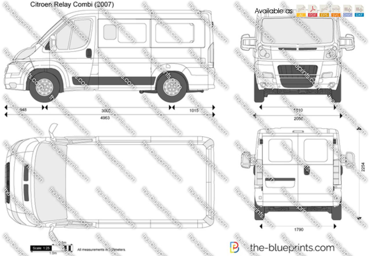 Citroen Relay Combi vector drawing