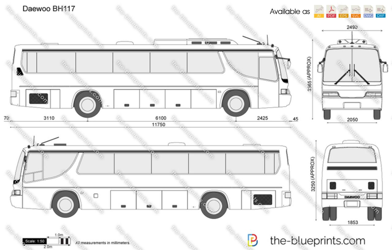 Daewoo Bh117 Vector Drawing