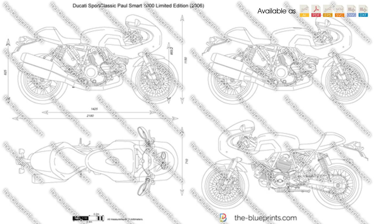 Ducati SportClassic Paul Smart 1000 Limited Edition vector