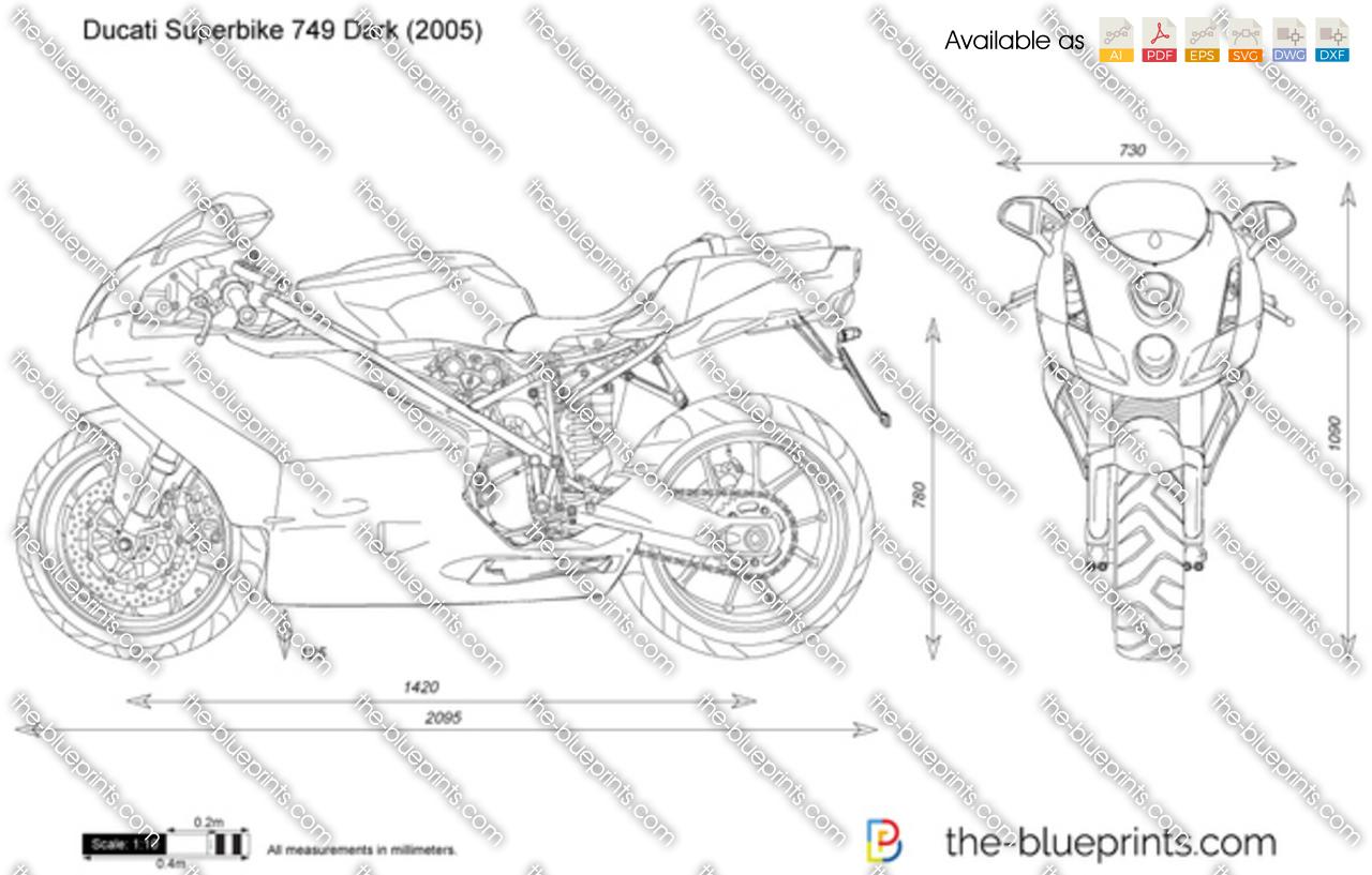 Ducati Superbike 749 Dark vector drawing