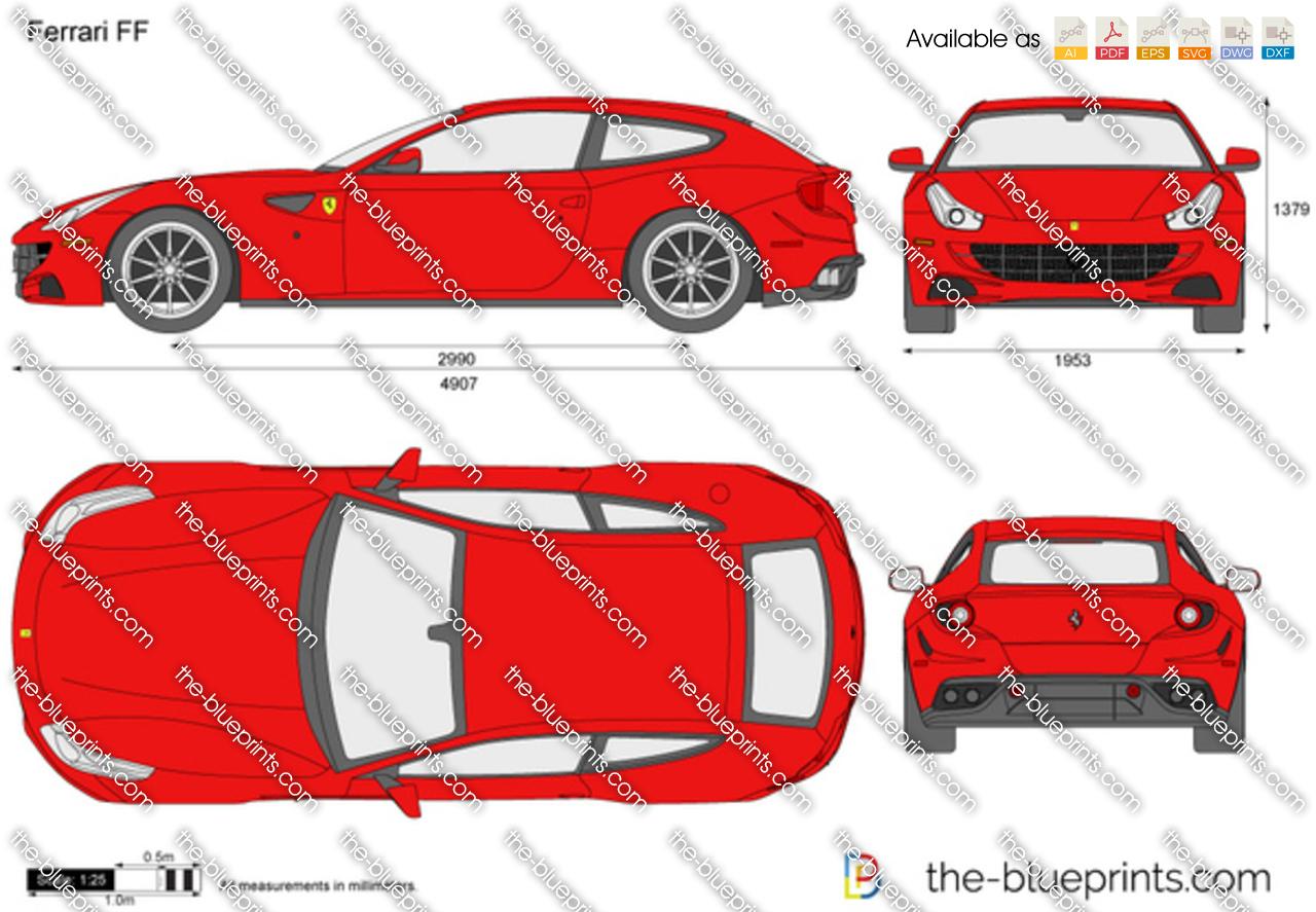 Ferrari Ff Vector Drawing