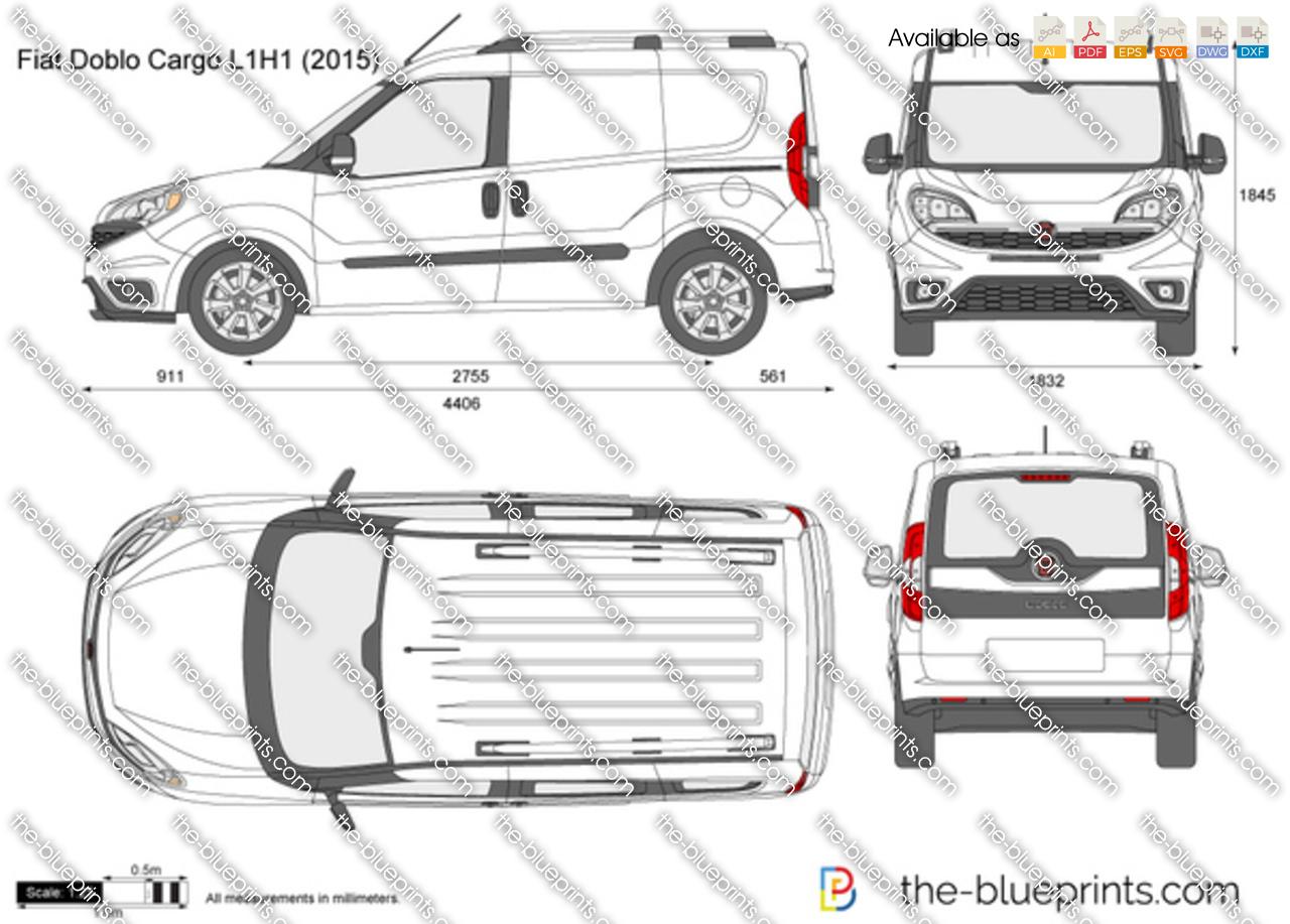 Fiat Doblo Cargo L1H1 vector drawing
