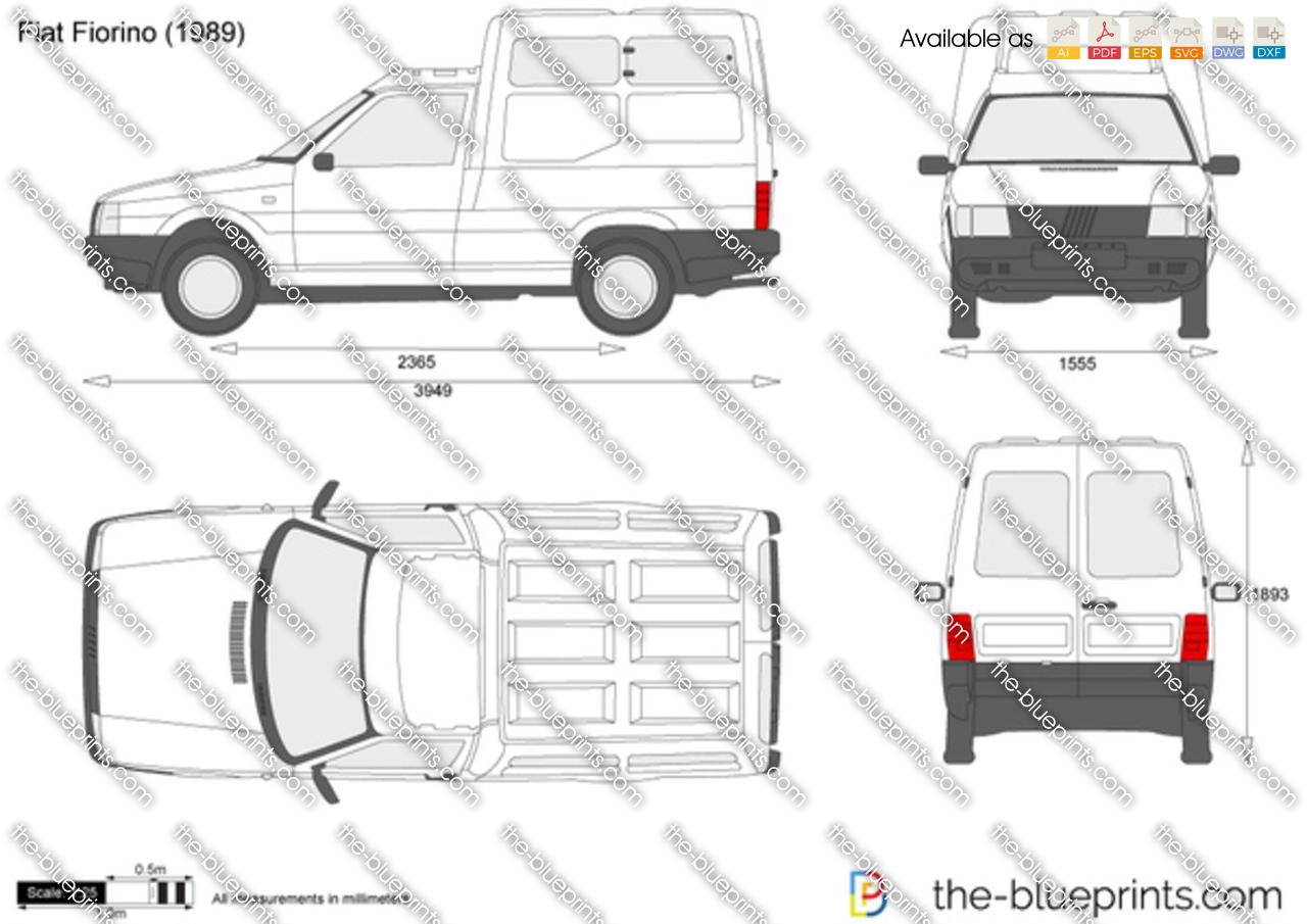 Fiat Fiorino vector drawing